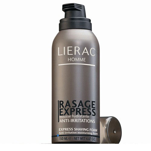 prix de lierac homme rasage express 150ml flacon sous gaz. Black Bedroom Furniture Sets. Home Design Ideas