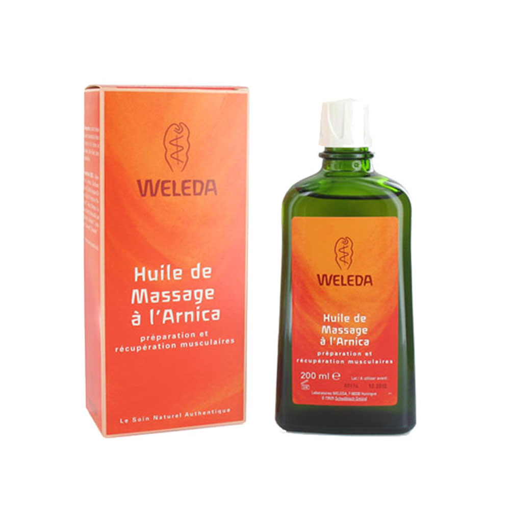 prix de weleda huile de massage l 39 arnica contenance 200 ml. Black Bedroom Furniture Sets. Home Design Ideas