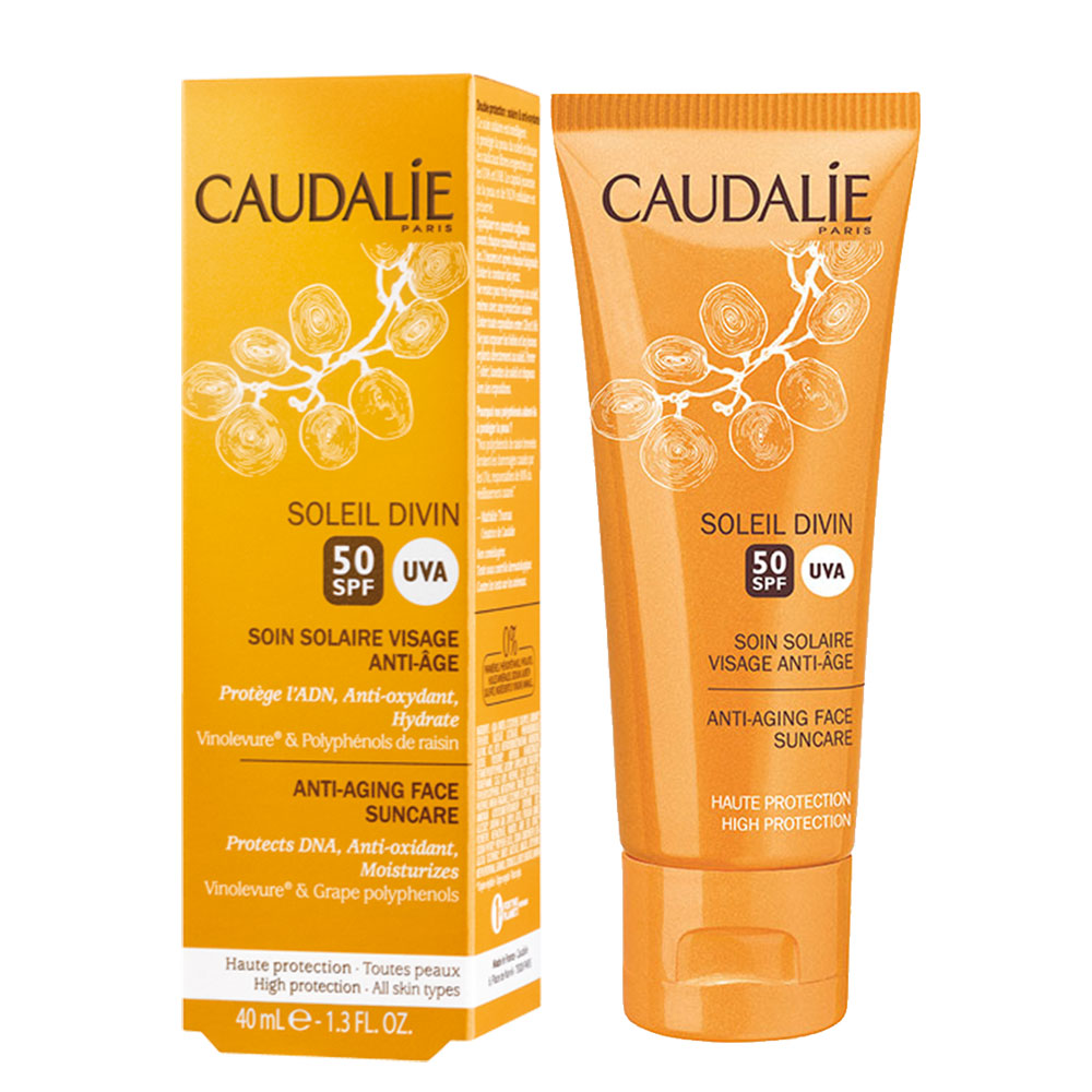 prix de caudalie soleil divin soin solaire visage anti age spf50 40ml. Black Bedroom Furniture Sets. Home Design Ideas