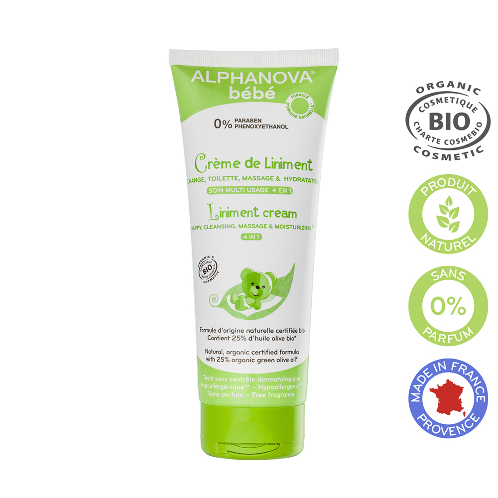 Bebe Creme De Liniment Soin Multi Usage 4en1 Bio 200ml Alphanova