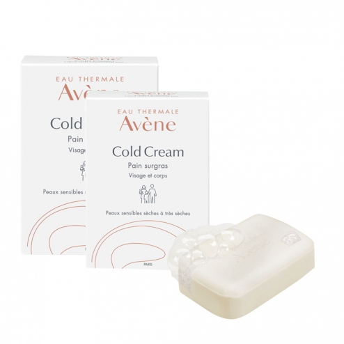 avene cold cream pain surgras visage et corps peaux sensibles seches a tres seches 2x100g. Black Bedroom Furniture Sets. Home Design Ideas