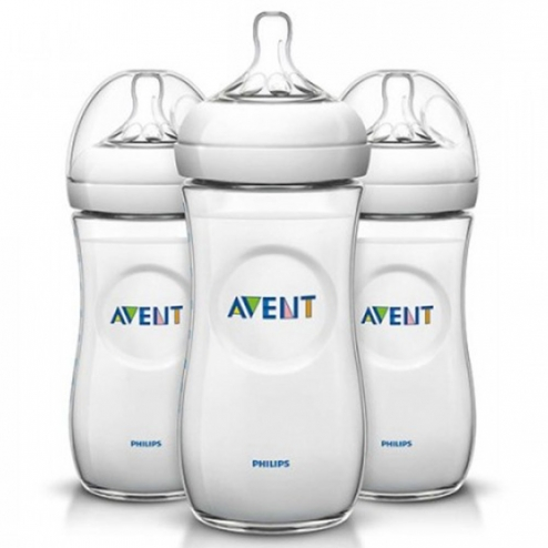 avent lot biberons natural pp tetines silicone 3mois et plus 3x330 ml. Black Bedroom Furniture Sets. Home Design Ideas
