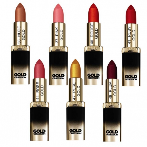 Loreal Color Riche Rouge A Levres Collection Gold Obsession