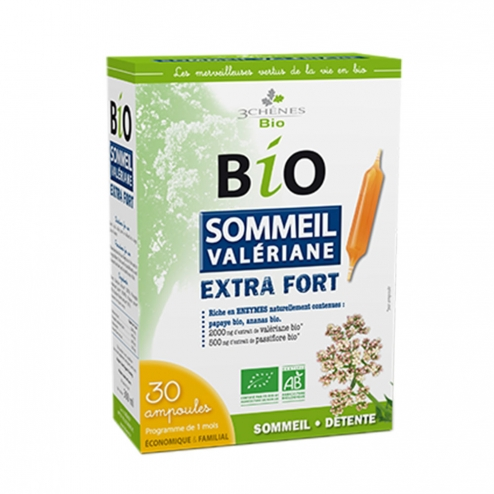 3 CHENES SOMMEIL VALERIANE EXTRA FORT 30 AMPOULES
