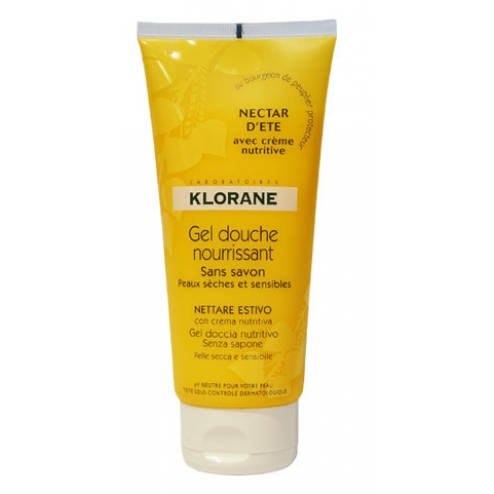 klorane gel douche nourrissant nectar d 39 ete 200ml klorane. Black Bedroom Furniture Sets. Home Design Ideas