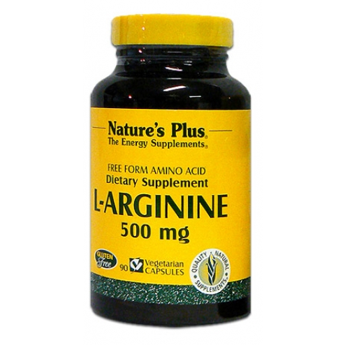 NATURE'S PLUS L-ARGININE 500MG 90 CAPSULES