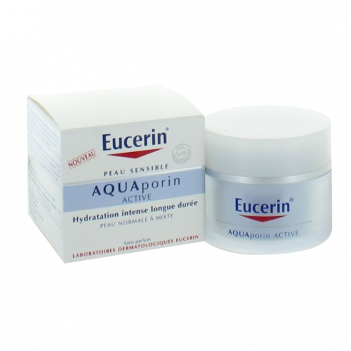 eucerin aquaporin active creme hydratante peaux normales a mixtes 50ml. Black Bedroom Furniture Sets. Home Design Ideas