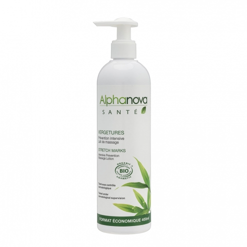 ALPHANOVA SANTE VERGETURES PREVENTION INTENSIVE LAIT DE MASSAGE BIO 400ML