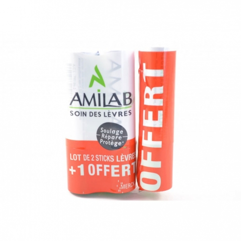 AMILAB STICK LEVRES DUO + 1 OFFERT - 3X3.6 ML