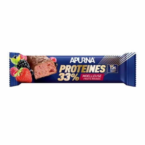 APURNA BARRE HYPERPROTEINEE MOELLEUSE 45G-FRUITS ROUGES