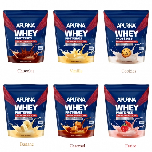 APURNA WHEY PROTEINES CONSTRUCTION MUSCULAIRE DOYPACK 750G