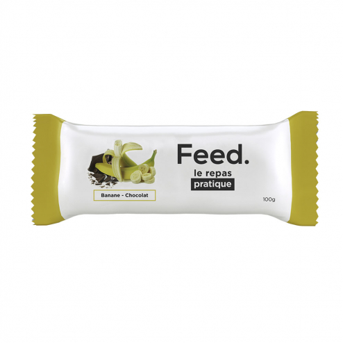 BARRE REPAS COMPLET 100G FEED - BANANE CHOCOLAT