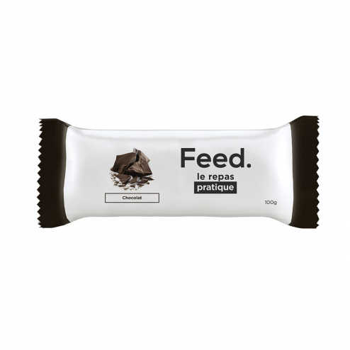 BARRE REPAS COMPLET 100G FEED - CHOCOLAT
