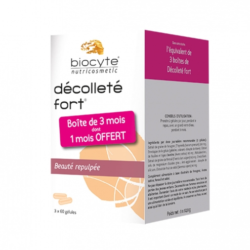 BIOCYTE DECOLLETE FORT BEAUTE REPULPEE 3X60 GELULES