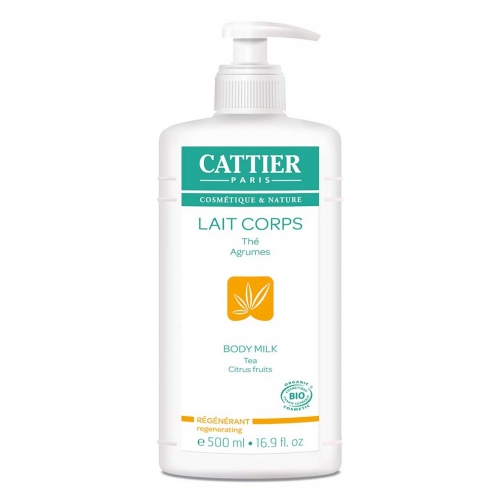 Lait Corps Regenerant The Et Agrumes Bio 500ml Cattier