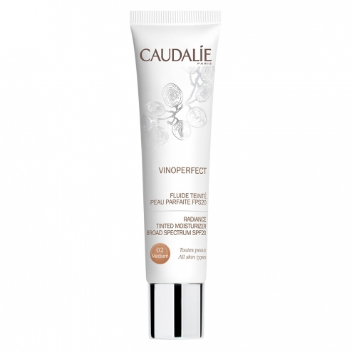 CAUDALIE VINOPERFECT FLUIDE TEINT SPF20 40ML - 02 MEDIUM
