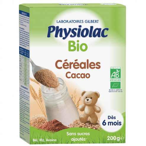 Cereales Cacao Bio Des 6 Mois Physiolac Bio 200g Gilbert