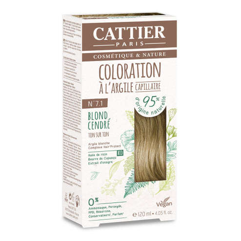 COLORATION A L'ARGILE CAPILLAIRE 120ML CATTIER - N7.1 BLOND CENDRE