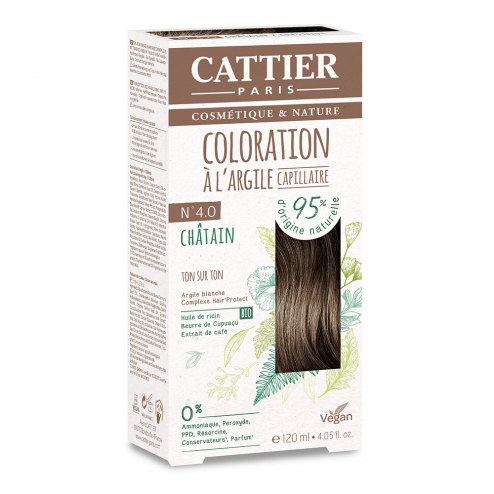 COLORATION A L'ARGILE CAPILLAIRE 120ML CATTIER-N4.0 CHATAIN