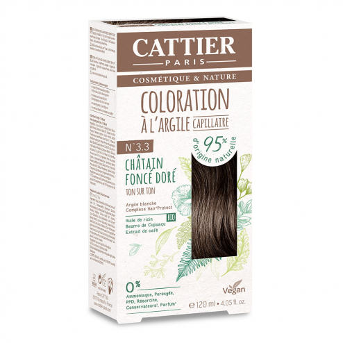 COLORATION A L'ARGILE CAPILLAIRE 120ML CATTIER-N4.3 CHATAIN DORE