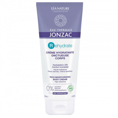 Creme Hydratante Onctueuse Corps Bio Rehydrate Peaux Seches 200ml Jonzac