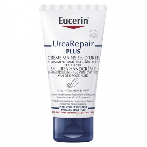 Creme Mains 5% D'uree 75ml UreaRepair Plus Peaux Seches Eucerin