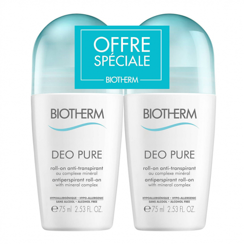 Deo Pure Roll-on Anti-transpirant 2x75ml Biotherm