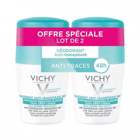 DEODORANT BILLE ANTI-TRANSPIRANT 2X50ML ANTI-TRACES VICHY