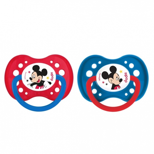 DODIE SUCETTES ANATOMIQUES EN SILICONE COLLECTION MICKEY & MINNIE 18 MOIS ET PLUS X2 - MICKEY