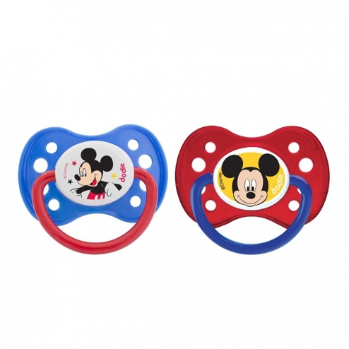 DODIE SUCETTES ANATOMIQUES EN SILICONE COLLECTION MICKEY & MINNIE 6 MOIS ET PLUS X2 - MICKEY