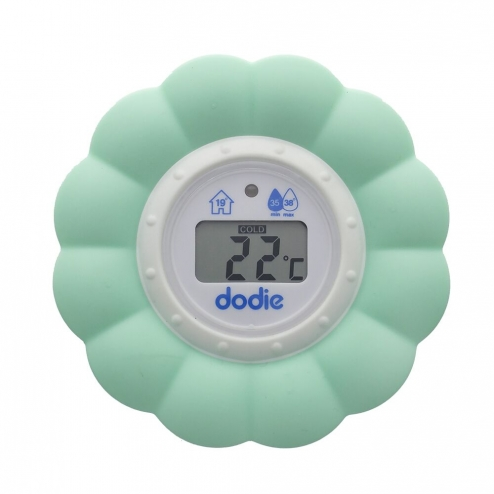 Dodie thermometre 2 en 1 bain et chambre bebe for Thermometre chambre