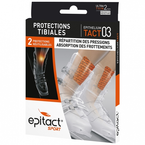 EPITACT SPORT PROTECTIONS TIBIALES EPITHELIUM TACT 03 X2