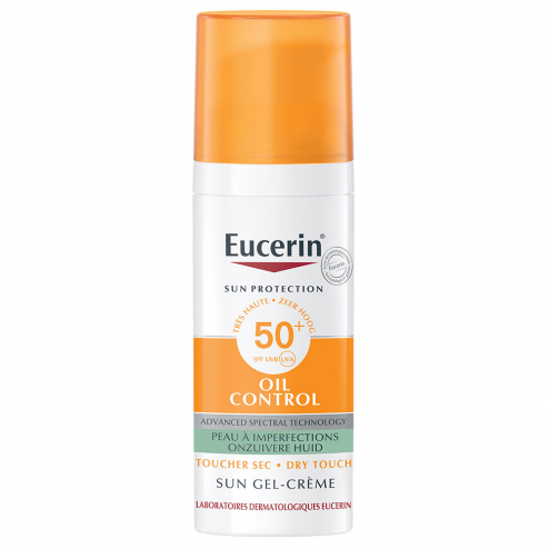 Gel-creme Spf50+ Oil Control Toucher Sec Visage 50ml Sun Protection Eucerin