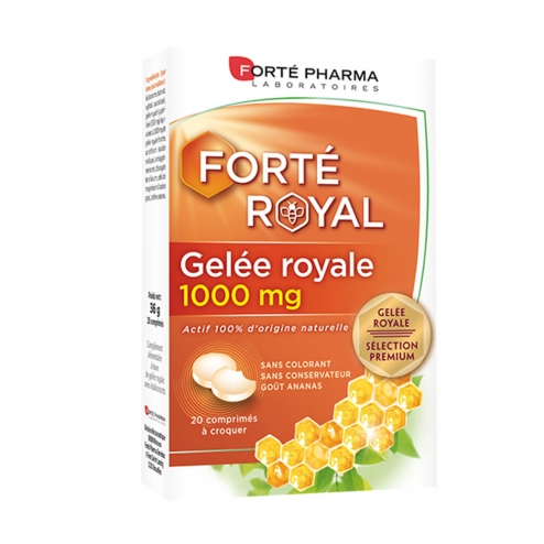 GELEE ROYALE 1000MG 20 COMPRIMES A CROQUER FORTE ROYAL FORTE PHARMA