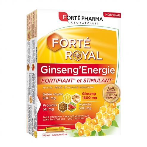 Ginseng'Energie 20 ampoules Forté Royal Forte Pharma