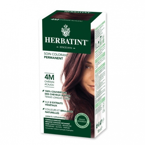 HERBATINT SOIN COLORANT PERMANENT AUX EXTRAITS VEGETAUX 150ML - 4M CHATAIN ACAJOU
