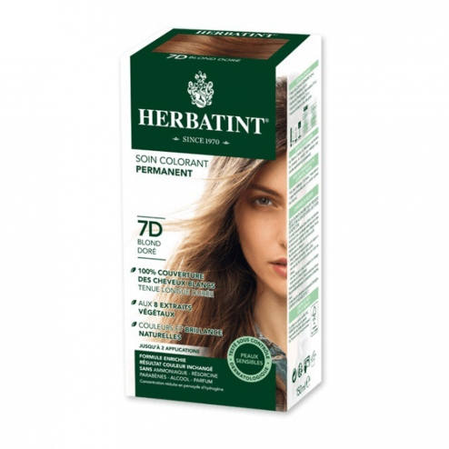 HERBATINT SOIN COLORANT PERMANENT AUX EXTRAITS VEGETAUX 150ML - 7D BLOND DORE