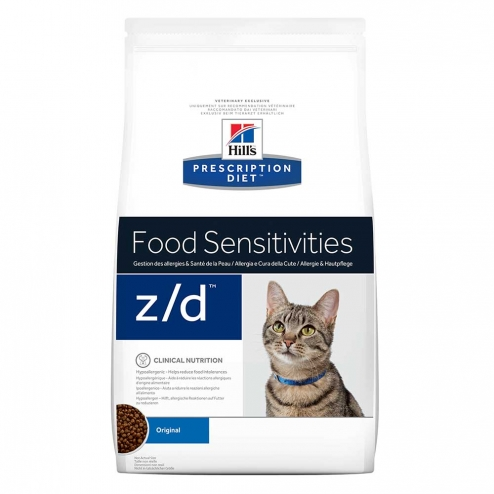 HILLS PRESCRIPTION DIET FOOD SENSITIVIES Z/D CHAT CROQUETTES 2KG