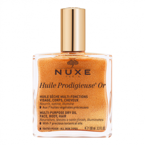 Huile Or 100ml Huile Prodigieuse Visage Corps Et Cheveux Nuxe