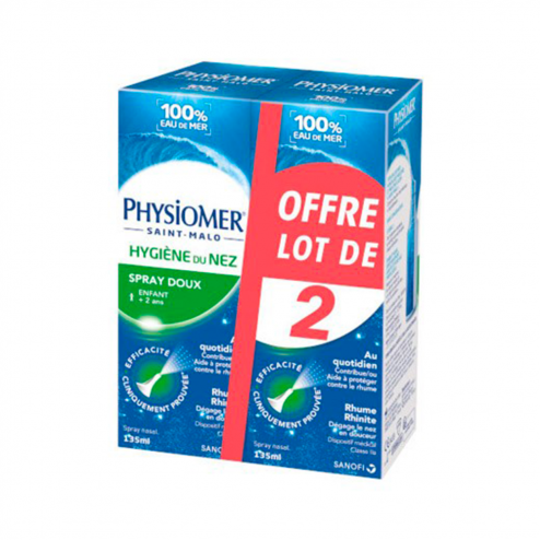 HYGIENE DU NEZ SPRAY 2X135ML PHYSIOMER SANOFI