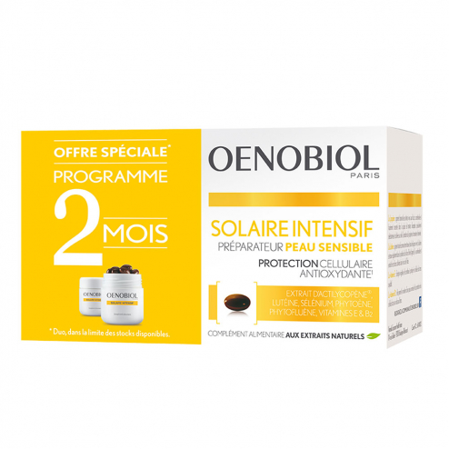 Intensif Preparateur 2x30 Capsules Peau Sensible Oenobiol