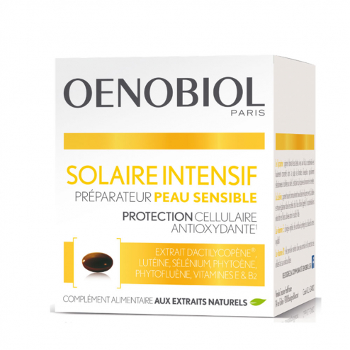 Intensif Preparateur 30 Capsules Peaux Sensibles Oenobiol