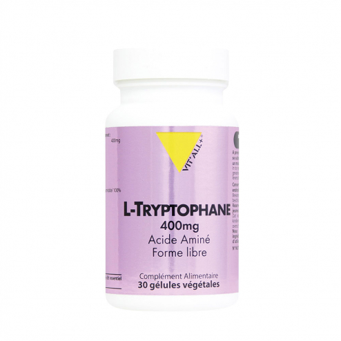 L-tryptophane 400mg 30 gélules Vit'All+