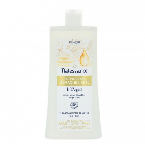 LIFT'ARGAN EAU DEMAQUILLANTE MICELLAIRE BIO 400ML NATESSANCE
