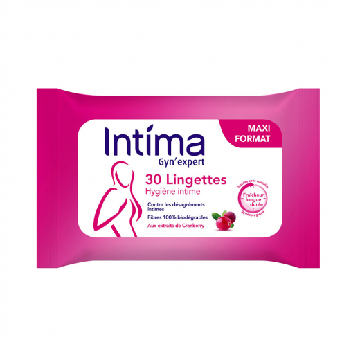 LINGETTES HYGIENE INTIME X30 GYN'EXPERT CRANBERRY INTIMA