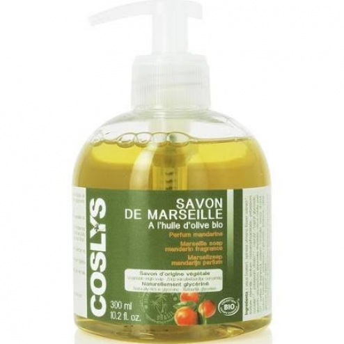 coslys savon de marseille corporel a l 39 huile d 39 olive bio parfum mandarine 300ml. Black Bedroom Furniture Sets. Home Design Ideas