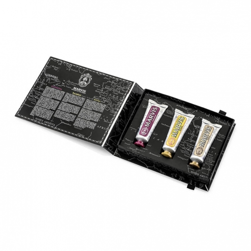 MARVIS COFFRET WONDERS OF THE WORLD 3 DENTIFRICES EDITION LIMITEE 75ML