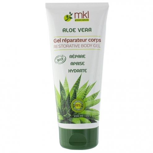 Gel Reparateur Corps A L'aloe Vera Bio 200ml Mkl