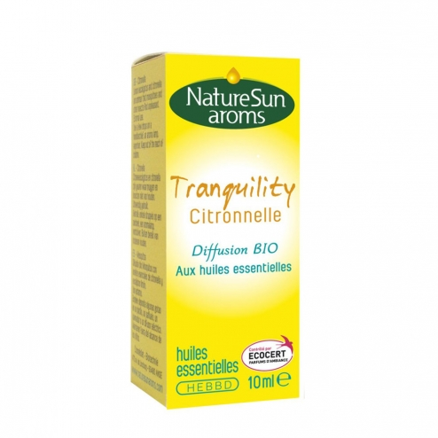 NATURESUN AROMS TRANQUILITY CITRONNELLE DIFFUSION ANTI-MOUSTIQUES BIO 10ML