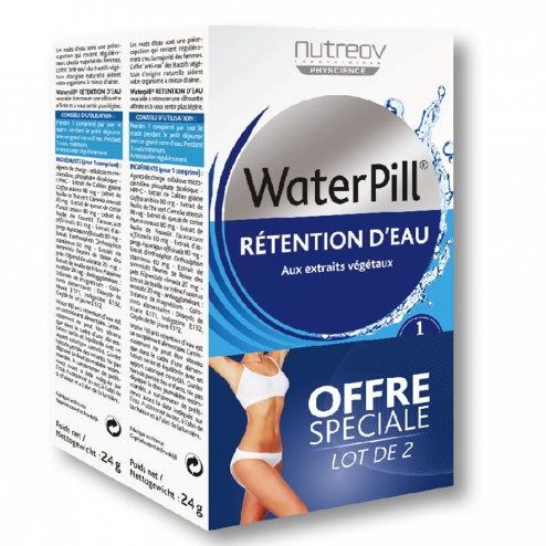 nutreov waterpill retention d 39 eau 2x30 comprimes easyparapharmacie. Black Bedroom Furniture Sets. Home Design Ideas